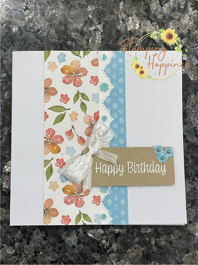 This is a handmade card featuring products from the You're a Peach Suite from Stampin Up made by Ruth Wareing